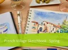 | A selection of online workshops plus original watercolour sketches, greetings cards and sketching materials available from my studio.